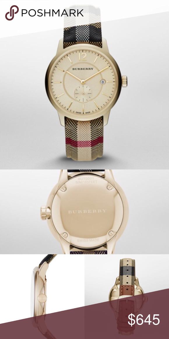 5711bbd2cbb NEW Authentic Burberry Mens Watch Classic New 100% Authentic Burberry Watch  Wristwatch Men's Burberry BU10001 Round Dress Watch Stainless Steel Case  size: ...