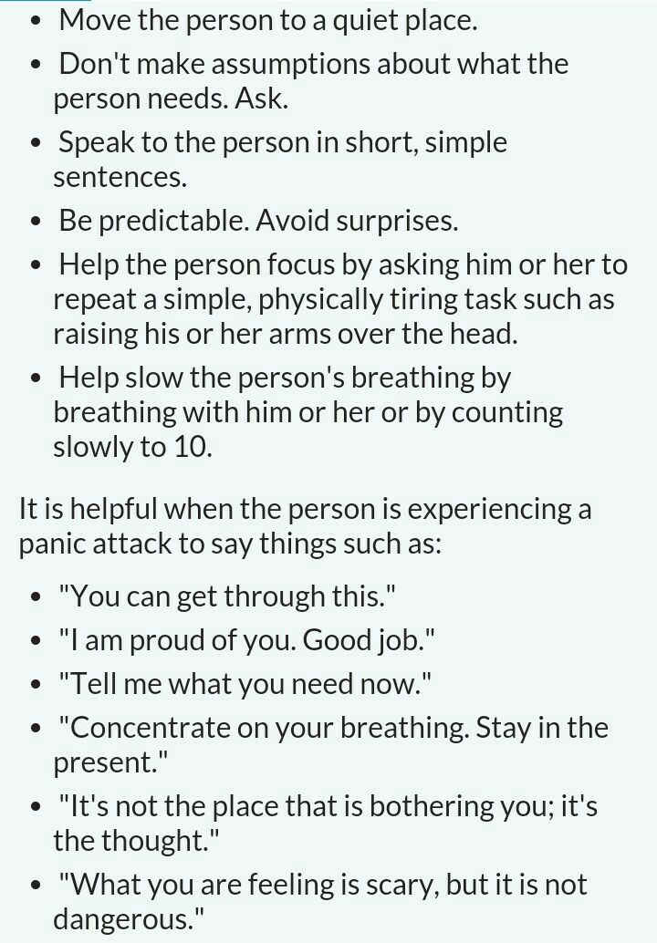 how to help someone avoid a panic attack