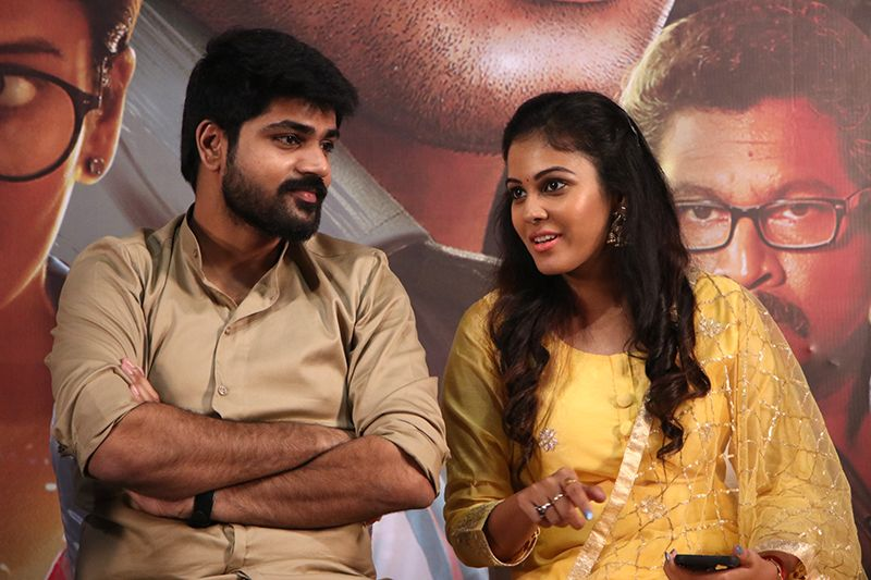 Metro Shirish , Chandini At Raja Ranguski Movie Press Meet