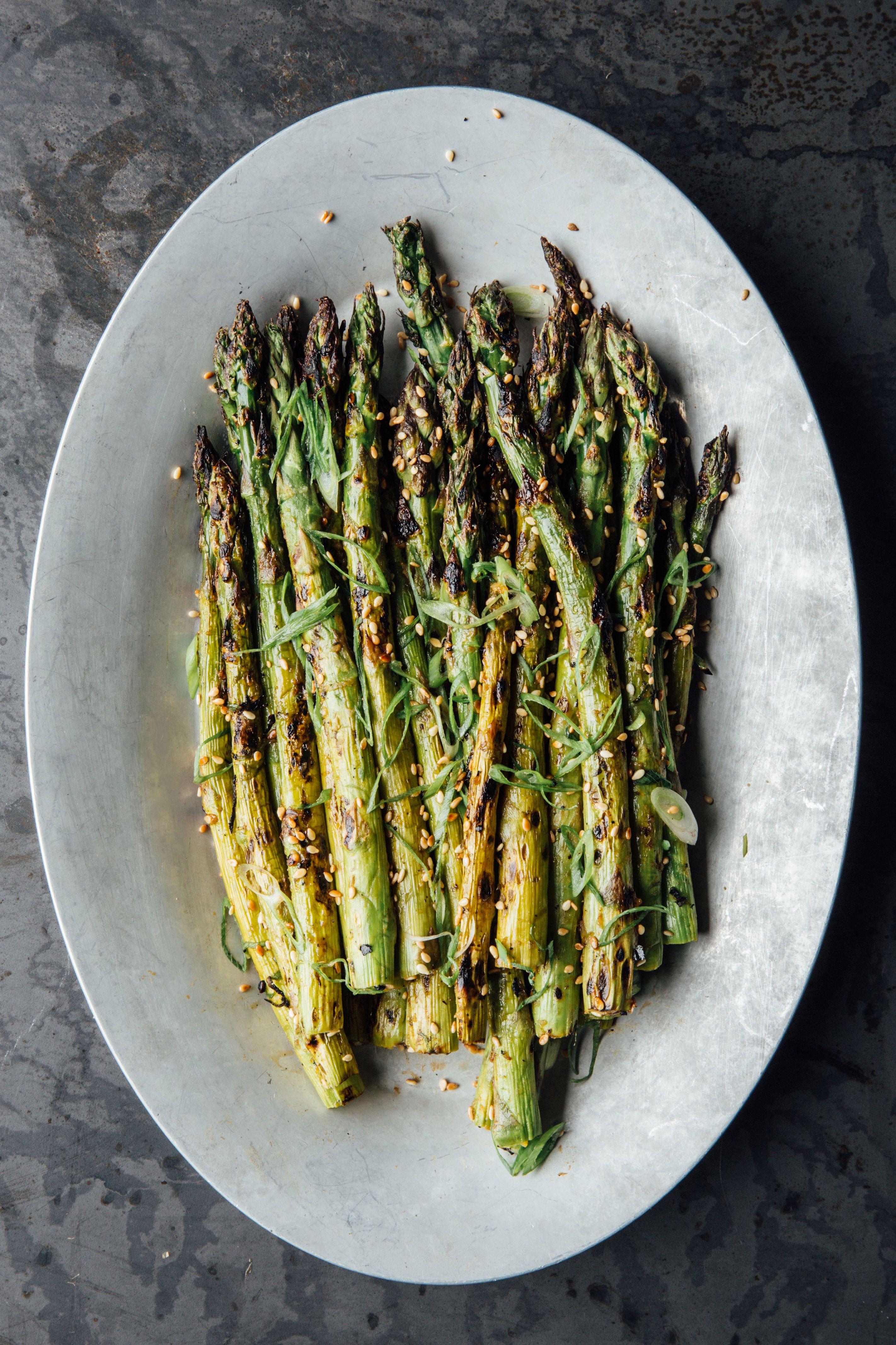 Ginger Miso Grilled Asparagus