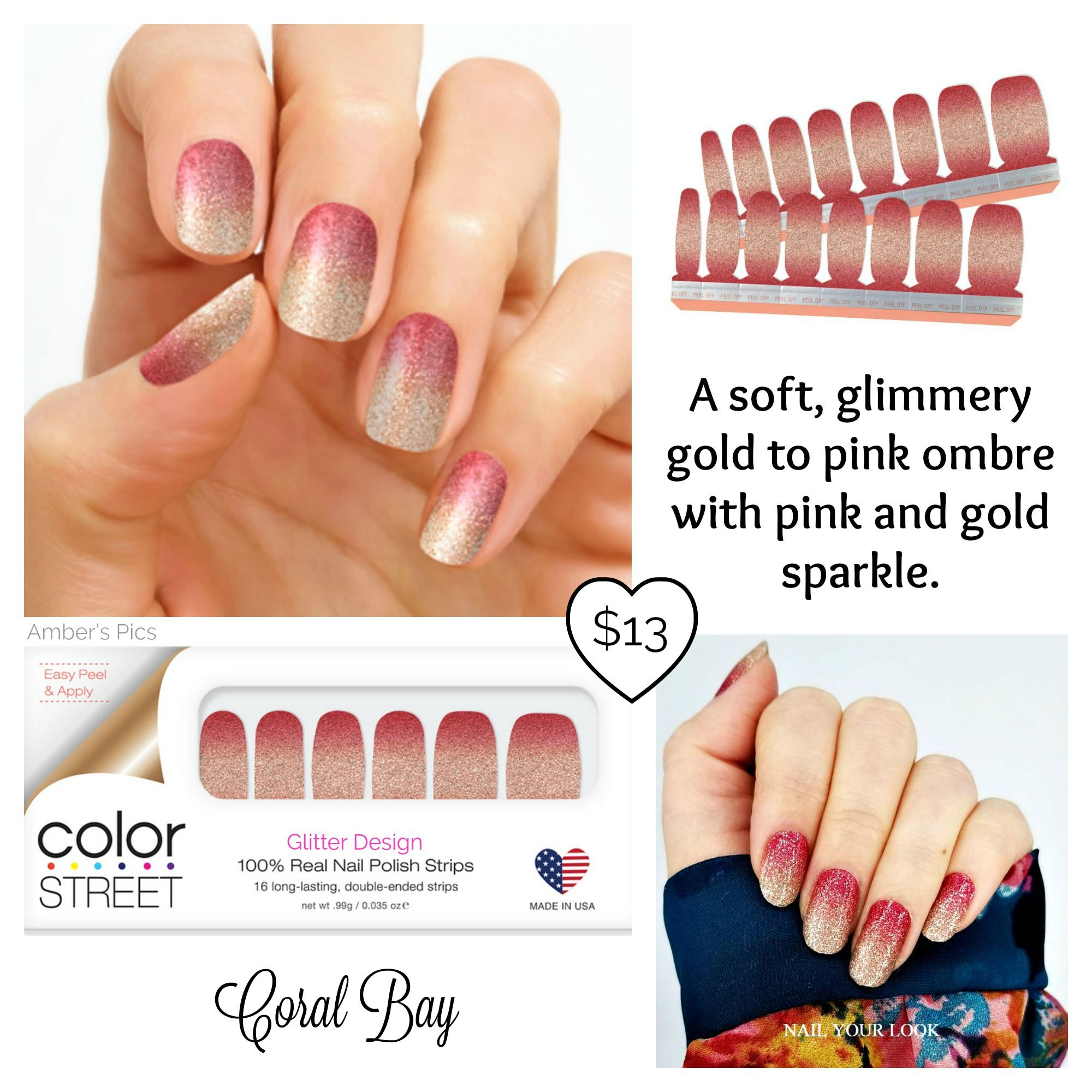 Coral Bay Color Street Nails With Images Nail Polish Strips