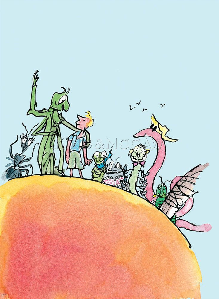 Roald Dahl - James and the Giant Peach Poster by Quentin ...