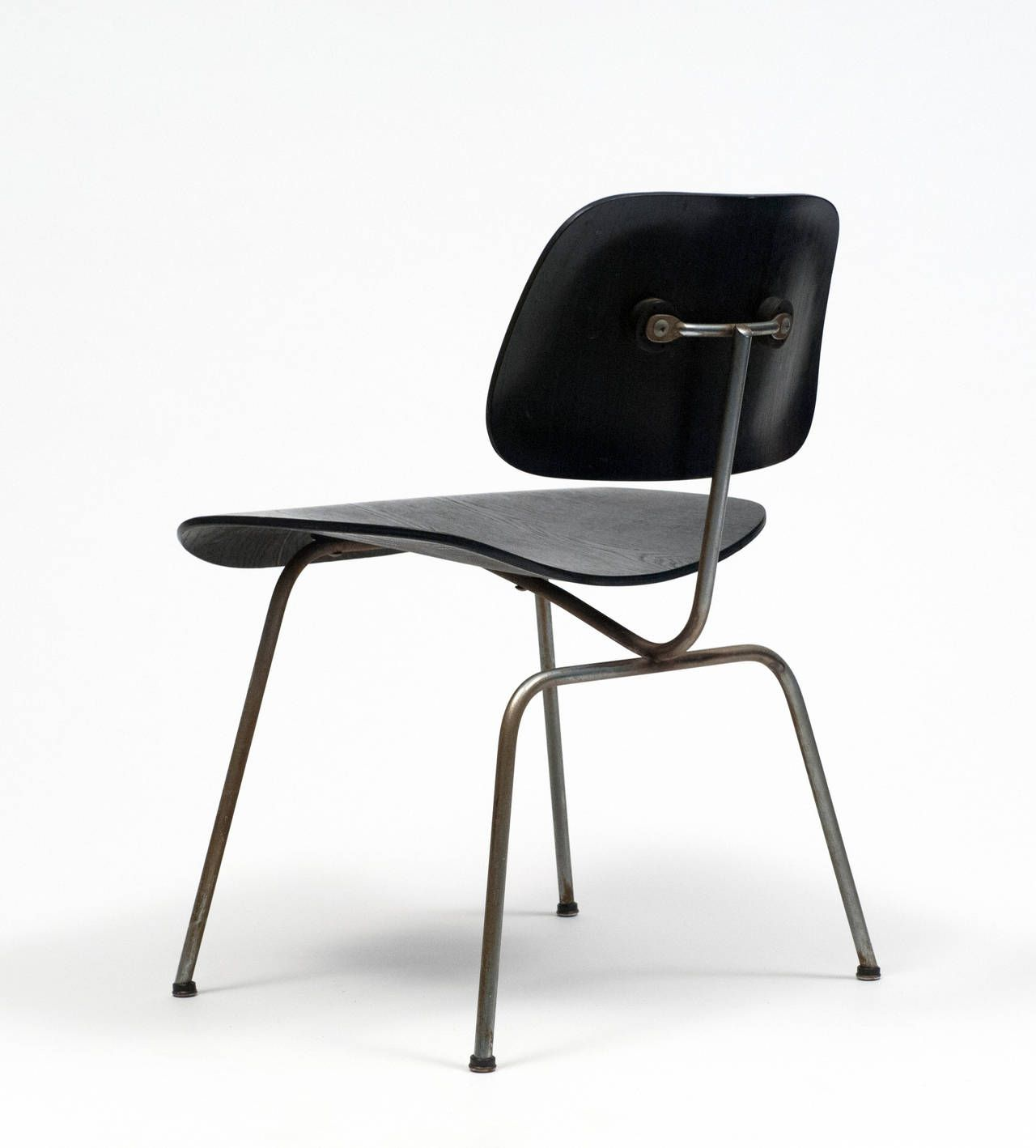 Early eames black dcm chair 1952