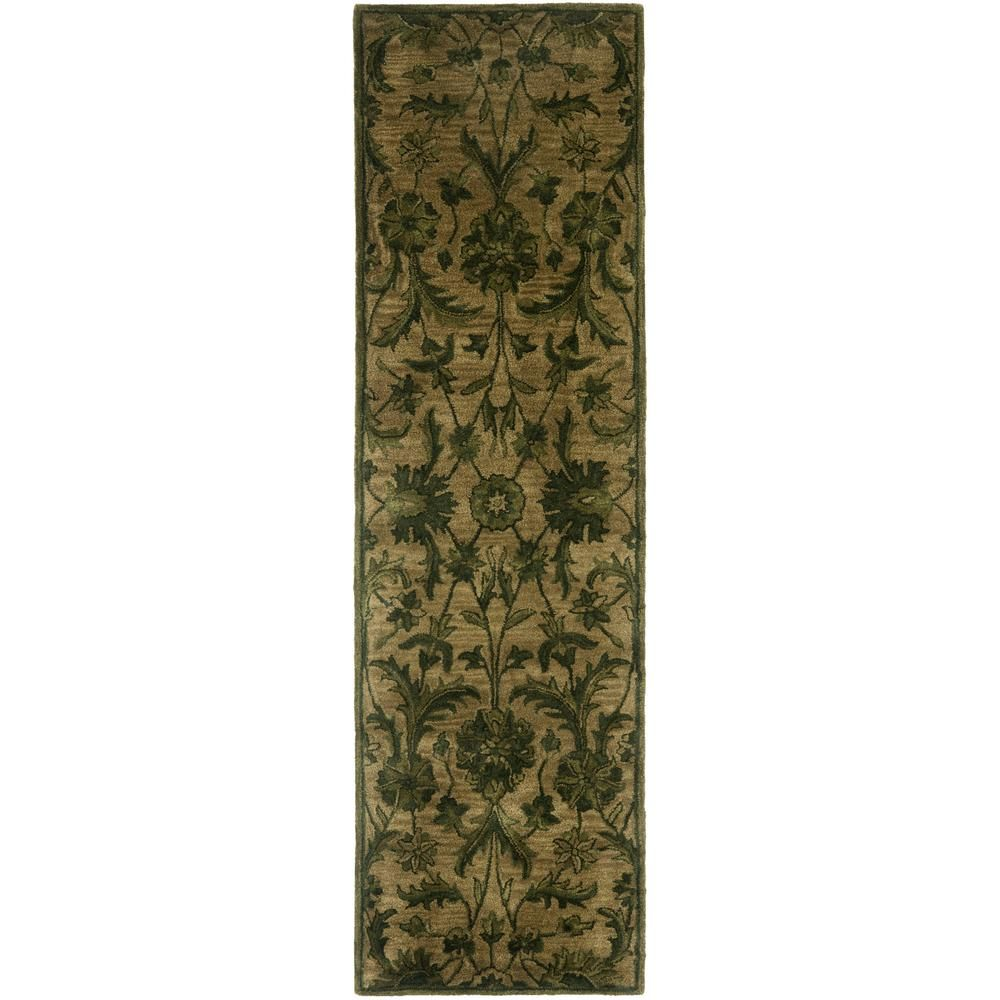 Safavieh Antiquity Gray Multi 8 Ft X 10 Ft Area Rug At824b 8 The Home Depot Floral Area Rugs Traditional Area Rugs Area Rugs