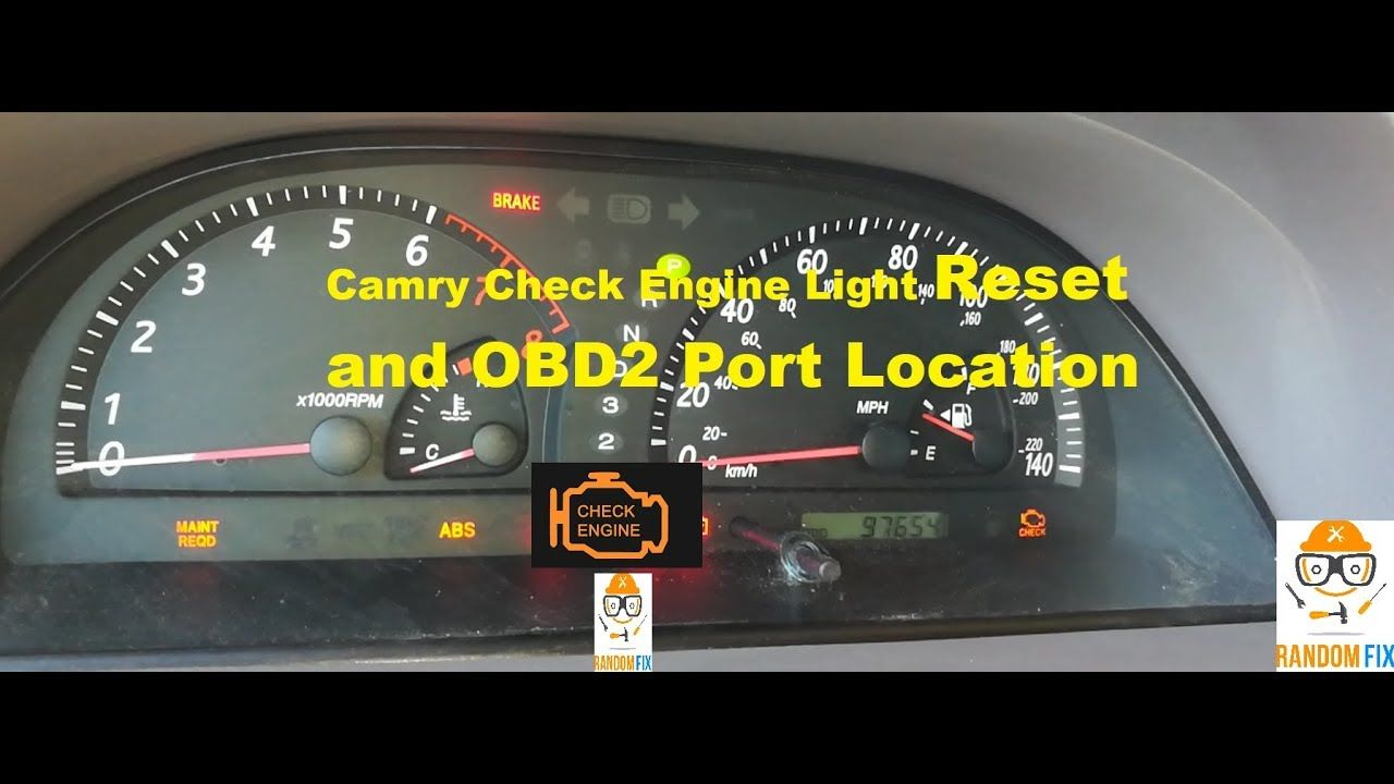 How to reset 2001 2002 2003 2004 2005 2006 toyota camry