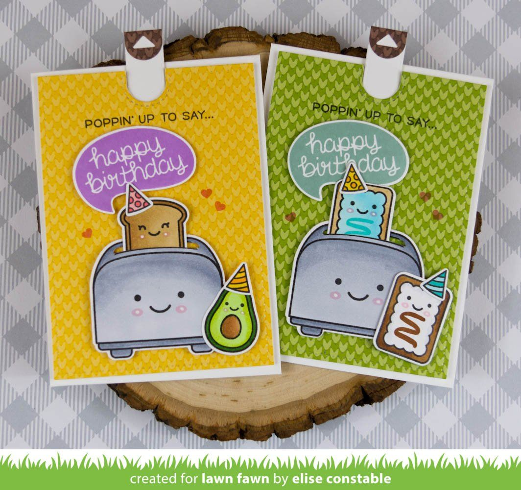 Let's toast pull tab add-on | card ideas | Lawn fawn, Lawn