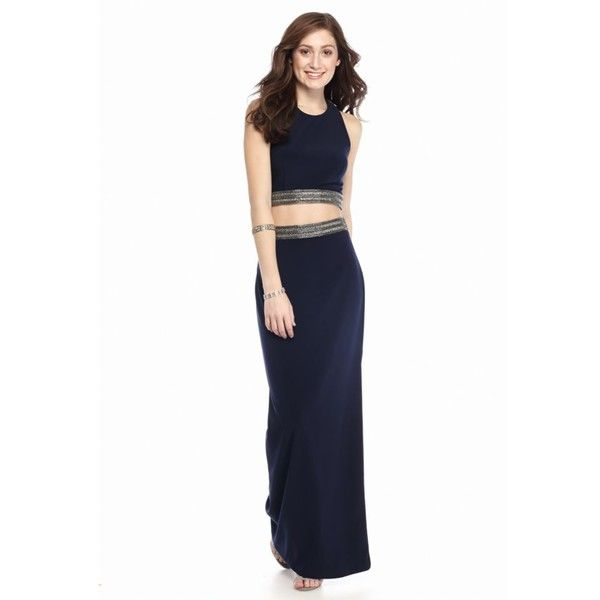Xscape Navy Bead Embellished Two-Piece Gown - Women\'s ($209 ...