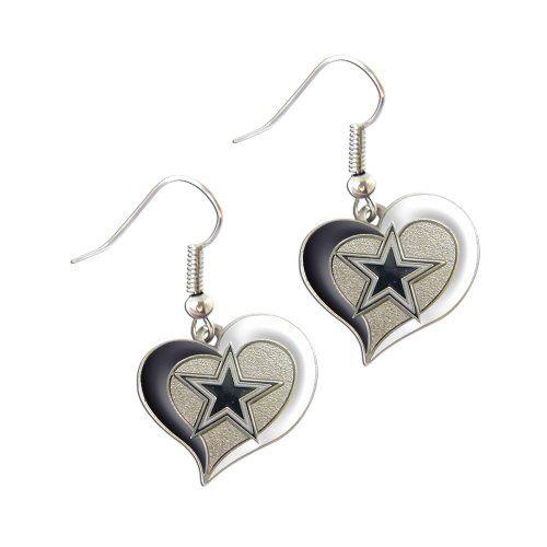 ccf1003c NFL Swirl Heart Shape Logo Dangle Earrings (Arizona Cardinals), Grey ...