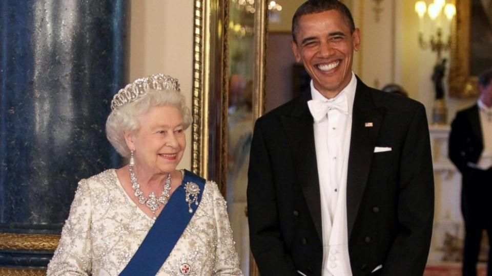 Aprill 2016 -President Obama Has Lunch With Queen Elizabeth (90th birthday) at Windsor Castle - Yahoo