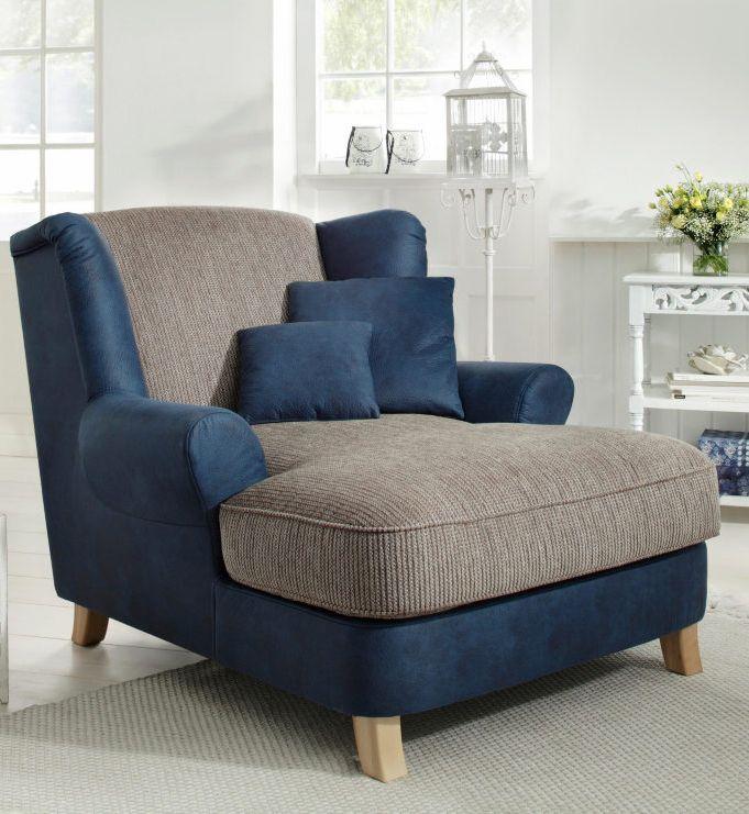 Home affaire Sessel »Celia«, Luxusmicrofaser\/Chenille Wohnzimmer - gemutlich modernes wohnzimmer