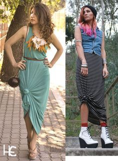 07ebbf9c83bc0a Cute way to tie up your maxi dress or skirt | Fashion in 2019 ...
