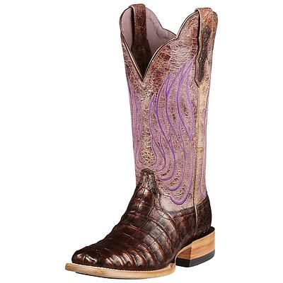 f551709e5fd Details about Ariat Women's Nitro Caiman Belly Cowboy Western Boots ...