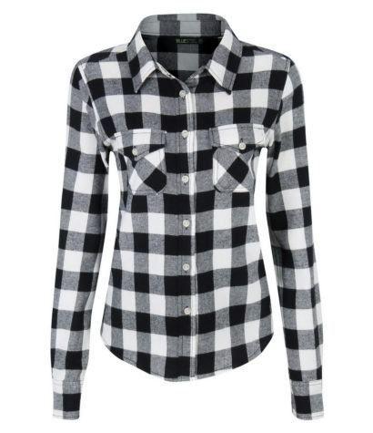 3dccf63bea camisas+xadrez+feminina+branca+e+preta