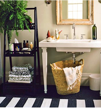 Small Bathroom Chic Trendy Storage Solutions Maximize Space Entrancing Maximize Space In Small Bathroom Decorating Design