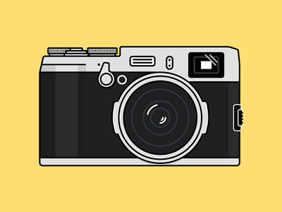Camera Vintage Vector Png : Fuji x100s #illustration #design #inspiration illustration fuji