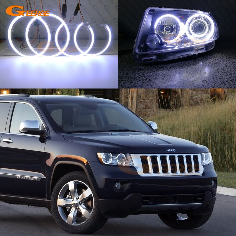 Jeep Cherokee Led Headlights | Check Price For JEEP GRAND CHEROKEE 2011  2012 2013 Xenon Headlight Excellent Ultra Bright Illumination COB Led Angel  Eyes Kit ...