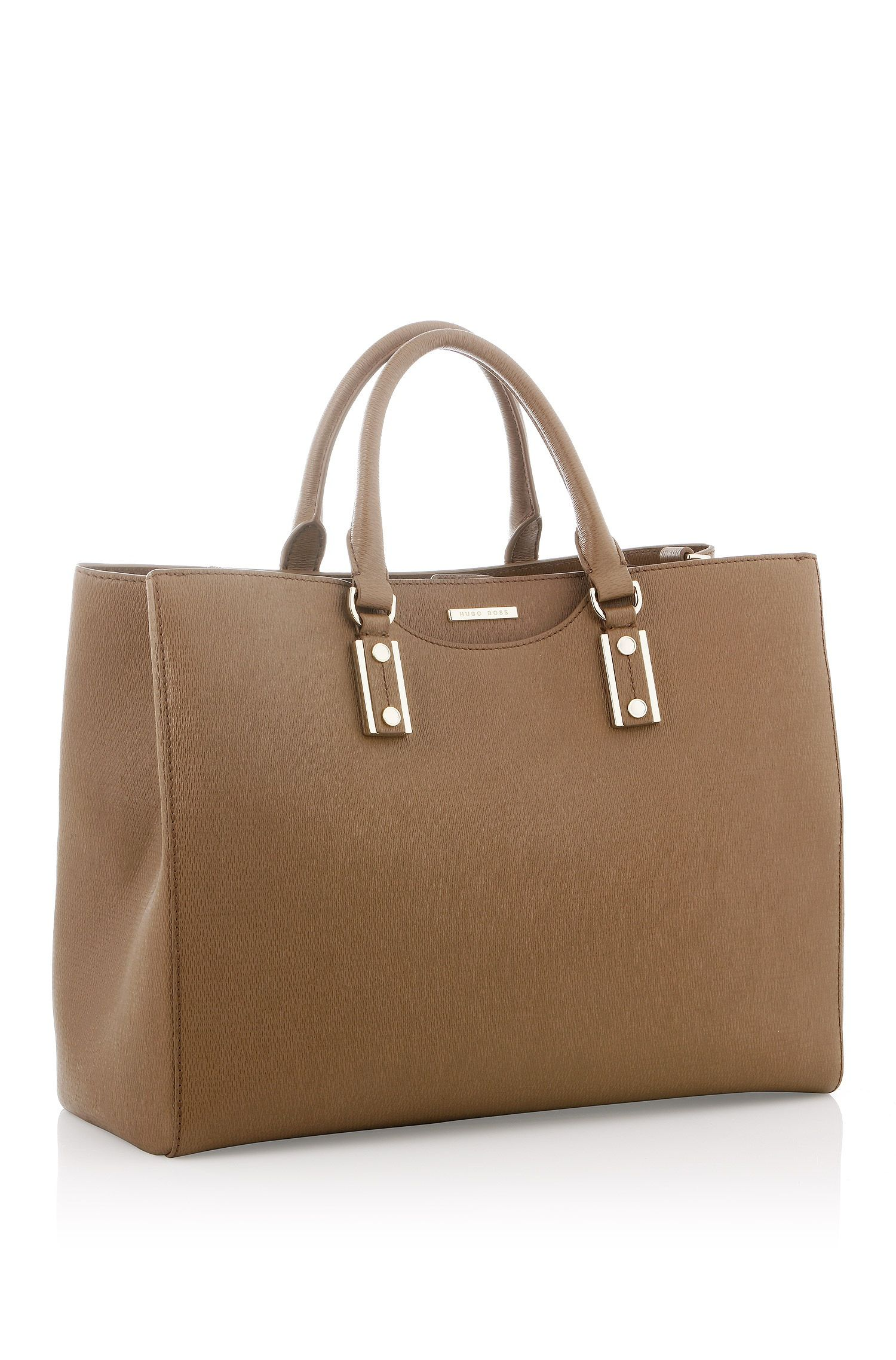 BOSS Shopper 'MailiaF' in leather with a grain kernel