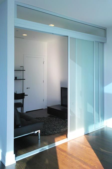 Translucent sliding doors create two rooms one with light source and the other internal  & Translucent sliding doors create two rooms one with light source ...