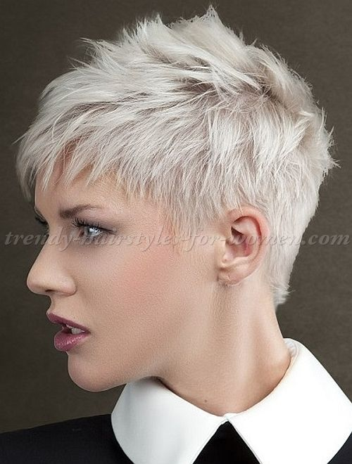 Short Spiky Hairstyles For Women Have Been Known To Have A Glamorous And Sassy Look In Quite A Short Spiky Hairstyles Short Hair Styles Pixie Hair Styles 2016