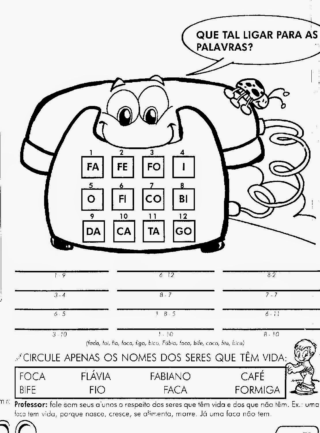 70 Atividades De Alfabetizacao Ed Infantil Pre Creche Bau De
