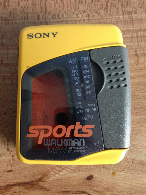 1980s Sony Sports Walkman FM AM Radio Cassette Player by