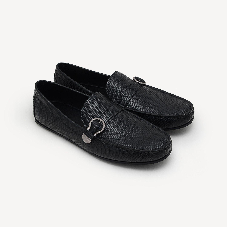 d0314495904 Embossed Leather Moccasins - Black - Moccasins - Shoes