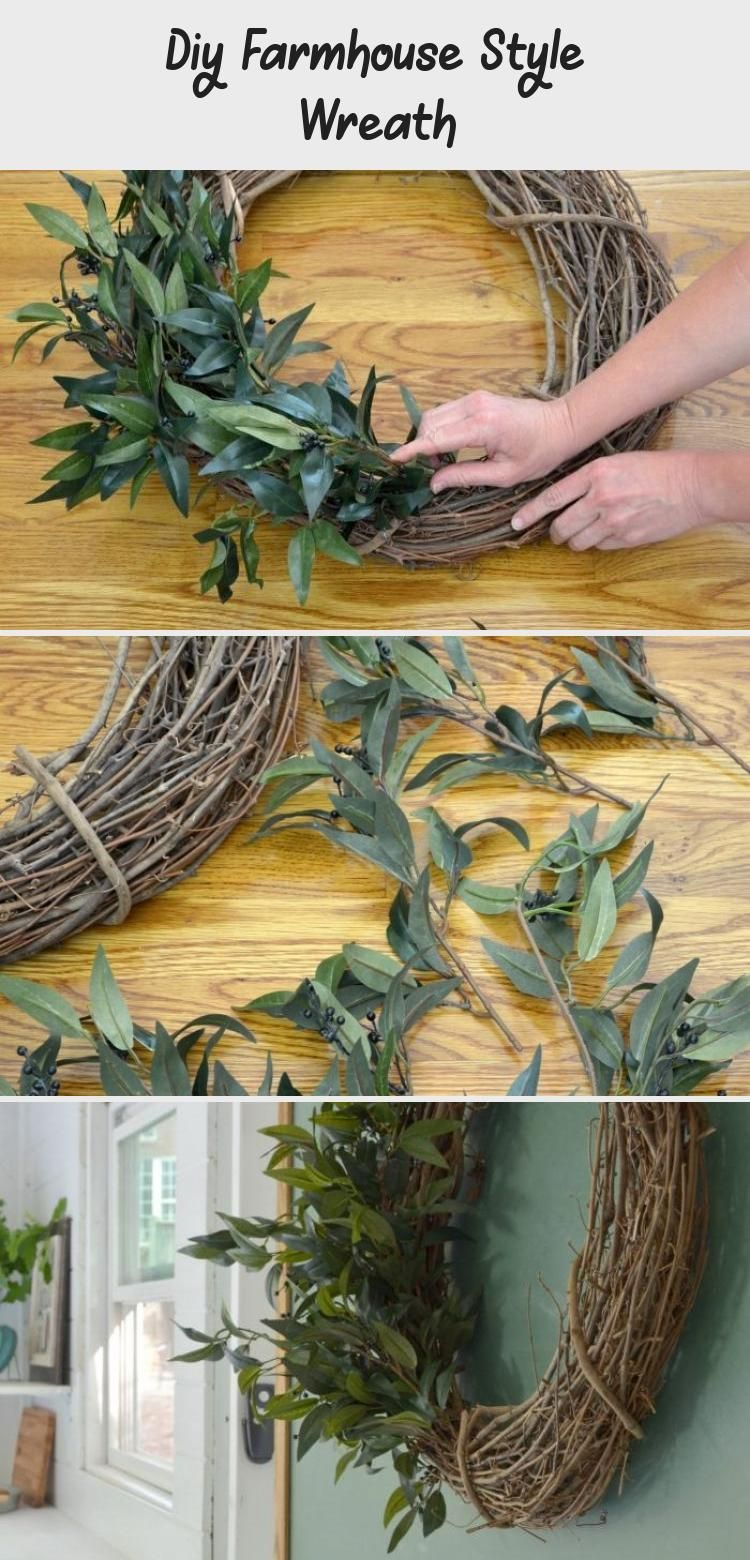 Diy Farmhouse Style Wreath Creating your own home decor can be a fun way to add your personal style into your home. See the tutorial for a farmhouse wreath.