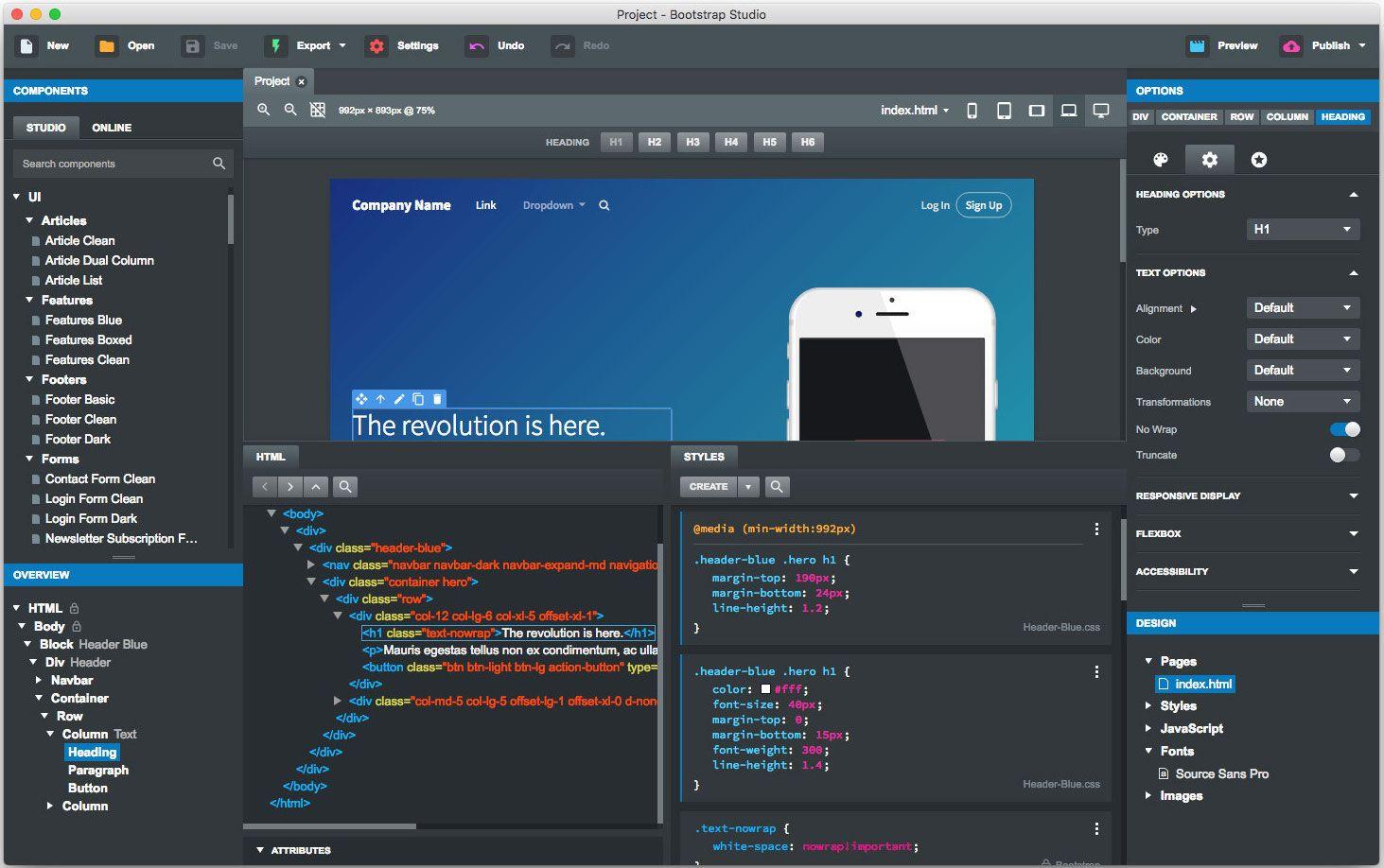 bootstrap studio free download for windows 10 | Bootstrap Studio