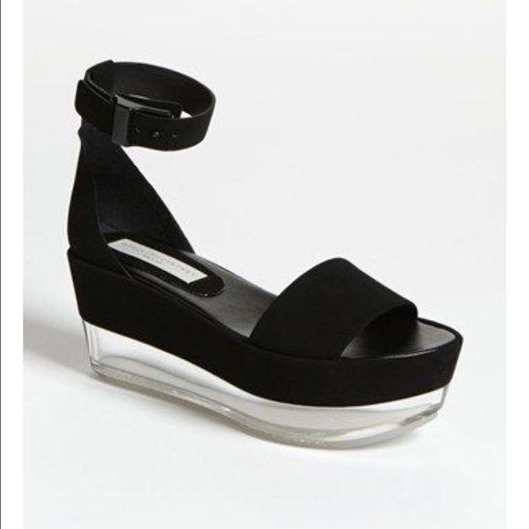 Stella McCartney black lucite platform sandals