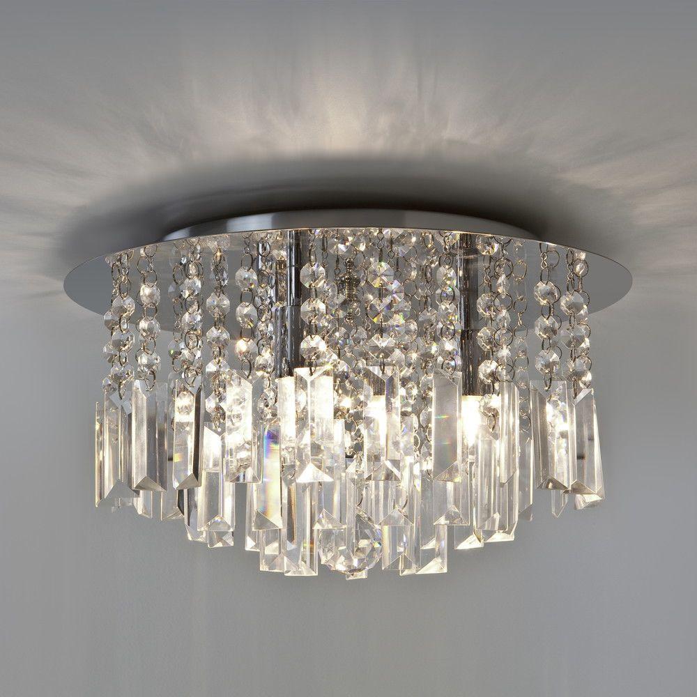 Luxuriose Deckenleuchte Evros Kristallglas Astro 1329001 Click Licht De Kristall Beleuchtung Beleuchtung Decke Badezimmerleuchten Einbau Deckenleuchten