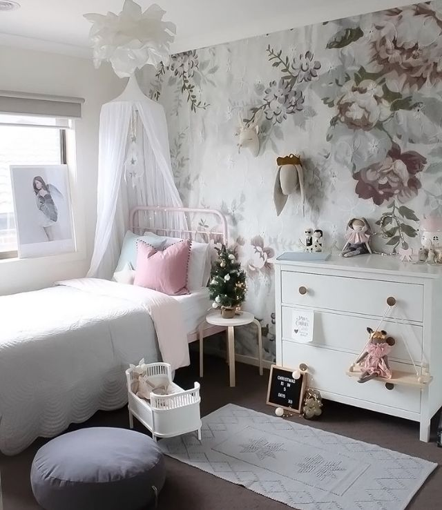 A Gorgeous Little Girl S Room By Houseofharvee Rosaline Doll Bed Available At Www Istome C Childrens Room Decor Eclectic Living Room Vintage Baby Room Design Kid bedroom ideas uk