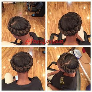 Halo Braid Halo braid natural hair Hair styles