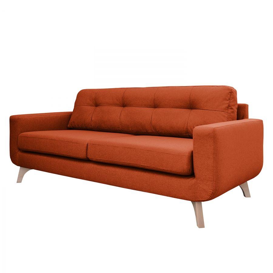 Sofa Marlene 3 Sitzer Webstoff Terracotta