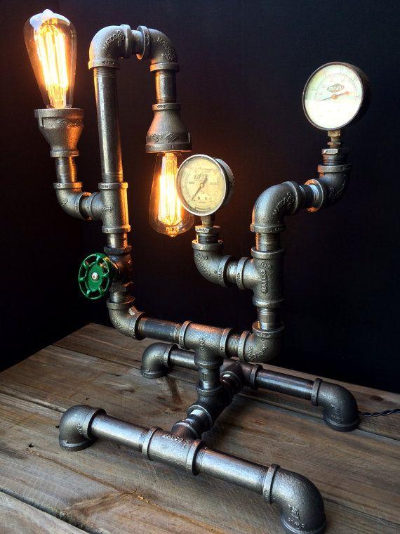 edison bulb desk lamp surpars steampunk pipe desk lamp with edison bulbs by urbanoutlanders