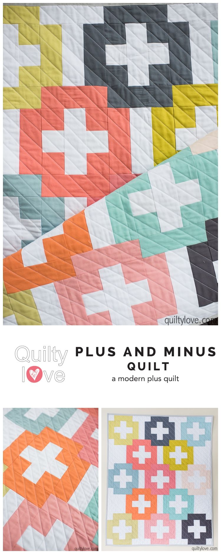 Plus And Minus Pdf Quilt Pattern Digital Download Quilting Is My