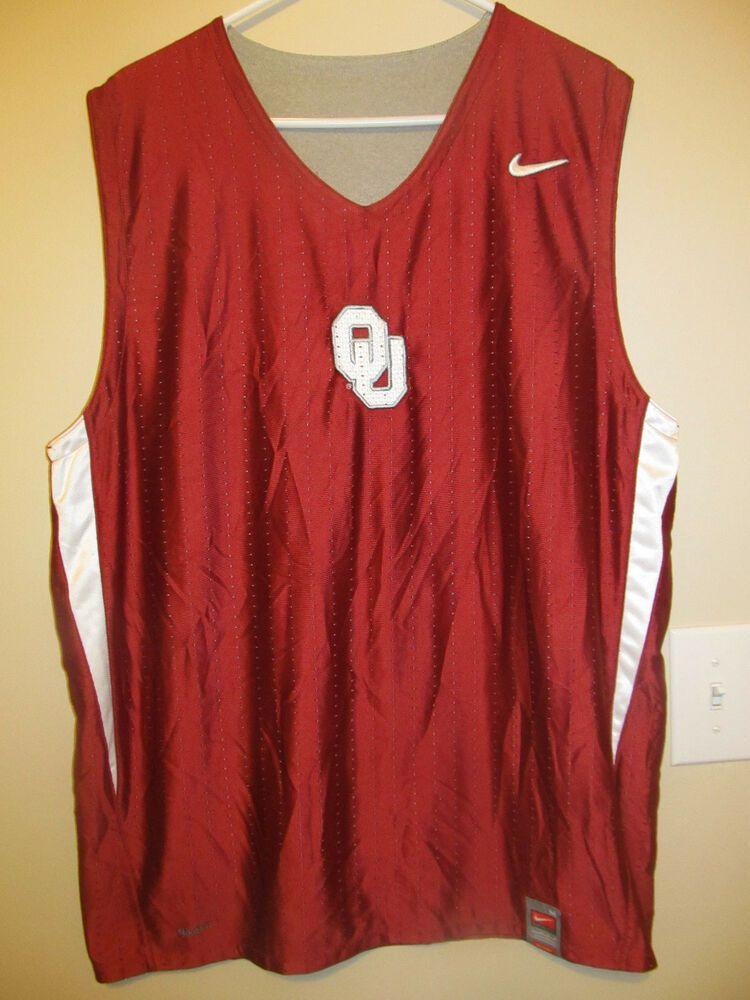 c4c9459e1f105 Oklahoma Sooners Reversible Practice Basketball jersey - Nike Adult Medium # Nike #OklahomaSooners
