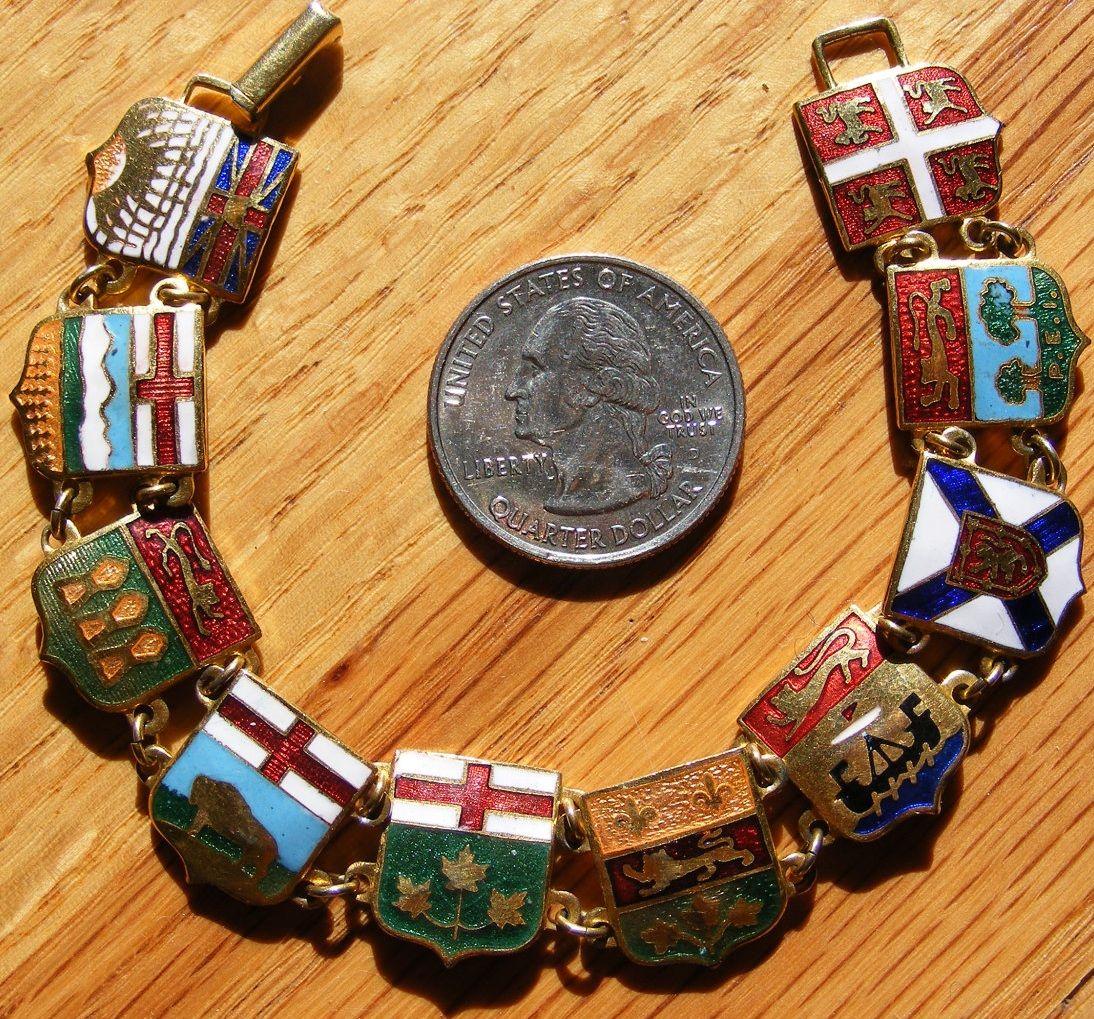 Canada provincial coats of arms [bracelet] | bracelet