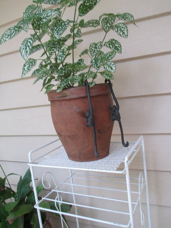 Vintage Plant Stand , 3 shelves, All Metal , Magazine  Rack , Knick Knack Slelves Sturdy Planter Sta #knickknack