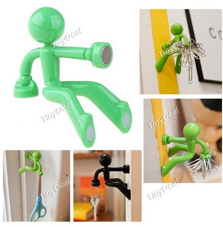 Handy Man Style Super Strong Magnetic Key Pete Magnet Key Holder Key Hook  For Keys   Color Assorted