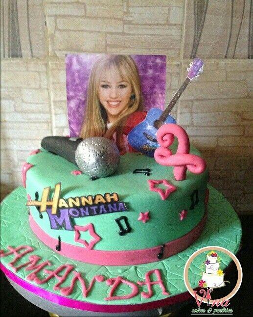 Excellent Hannah Montana Birthday Cake Cake Birthday Cards Printable Inklcafe Filternl