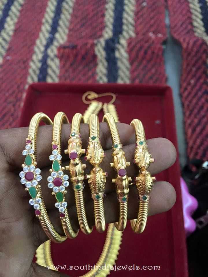Latest Gold Bangle Designs From Veerabhadra Jewellery | Gold ...