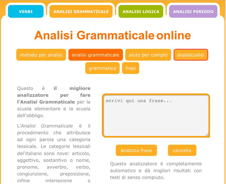 Analisi grammaticale italiano pinterest for Analisi grammaticale di diversi