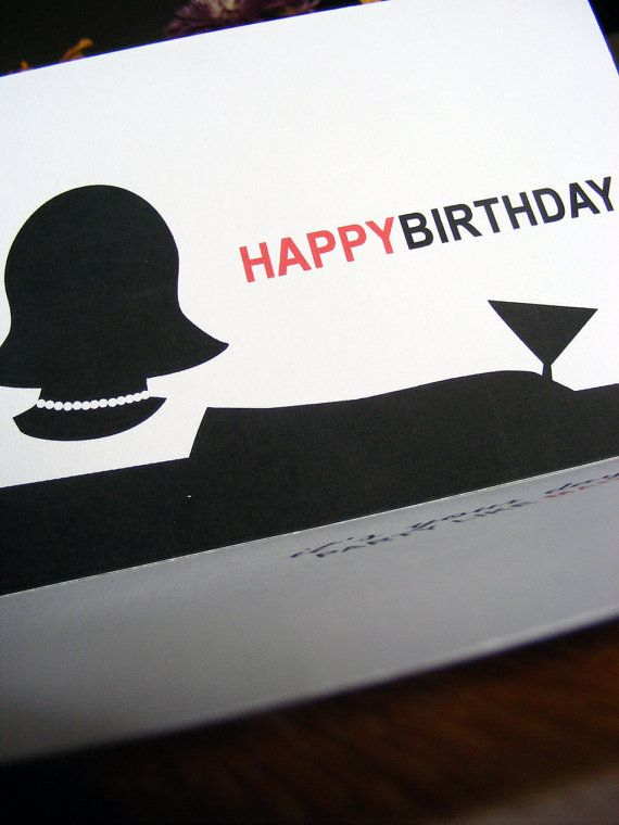 Happy BirthdayParty Like Mad Mad Men by CDesignIllustration 400 – Mad Men Birthday Card