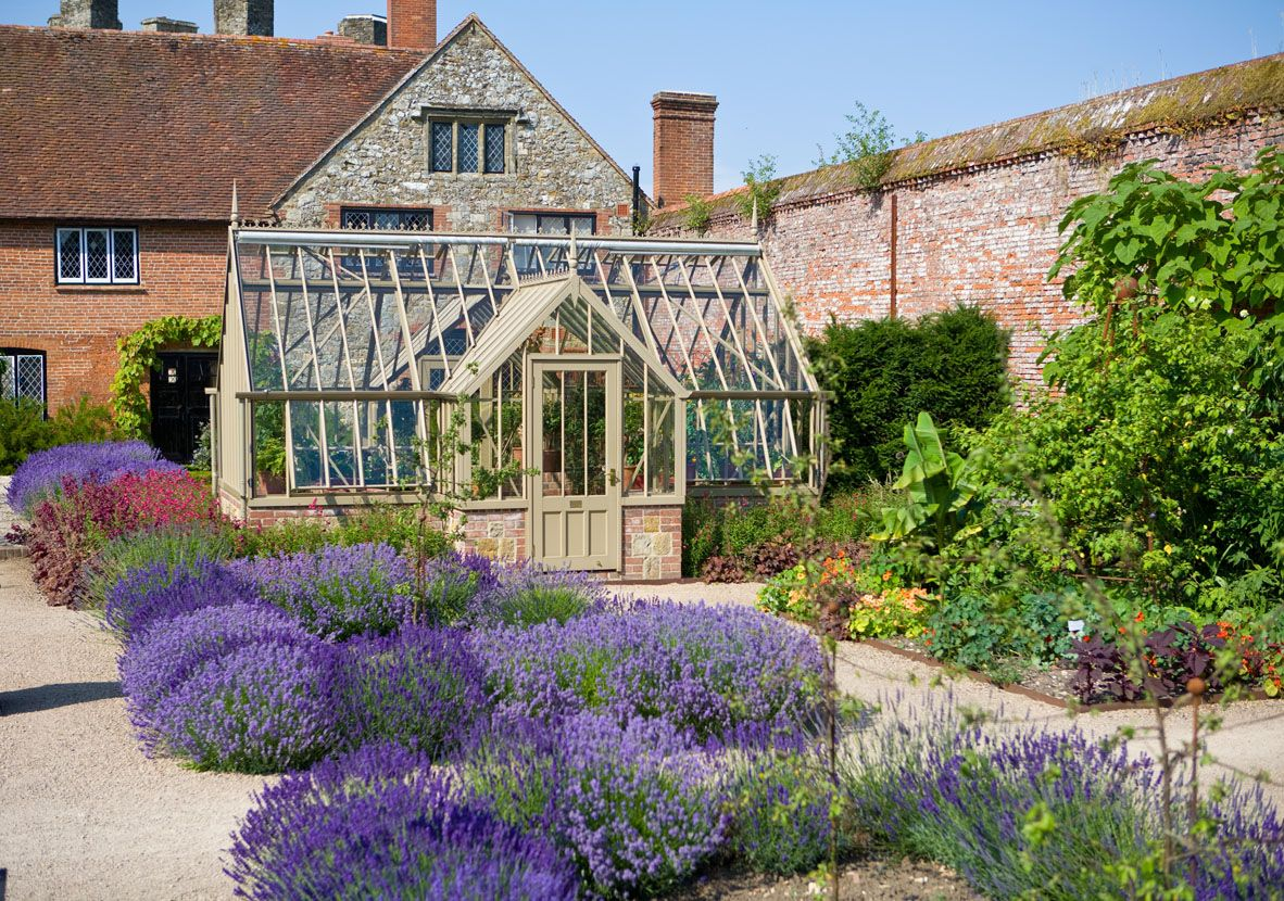 This is our greenhouse in The Walled Garden at Cowdray