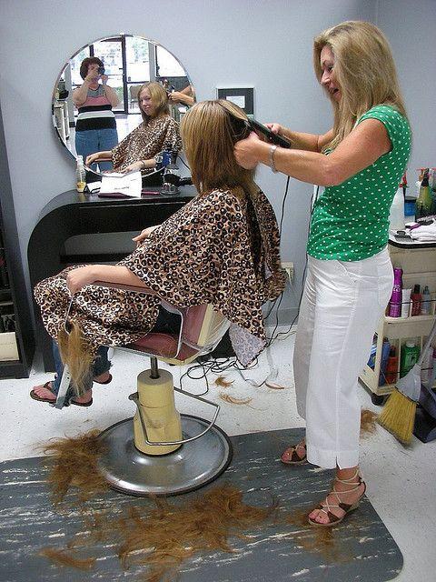 Lady Stylist Sexy Girls Haircutting Hair Salon Chairs