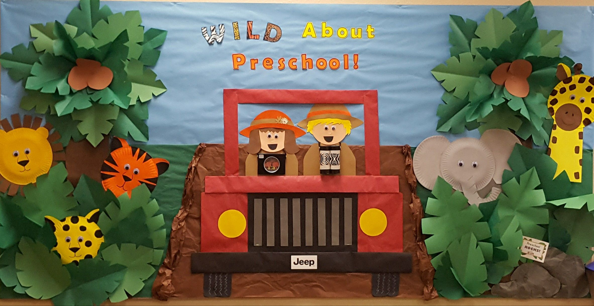 Wild About Preschool Jungle Themed Bulletin Board All