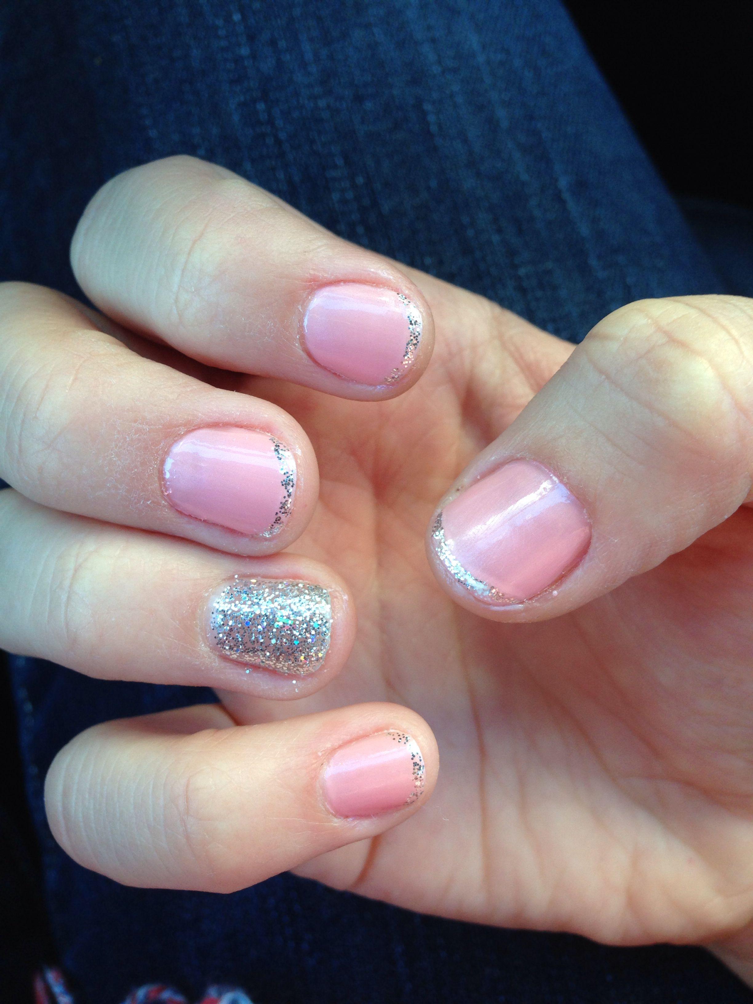 Lauren Nelson Design Light Pink Amp Glitter Nails Nail Design Pinterest