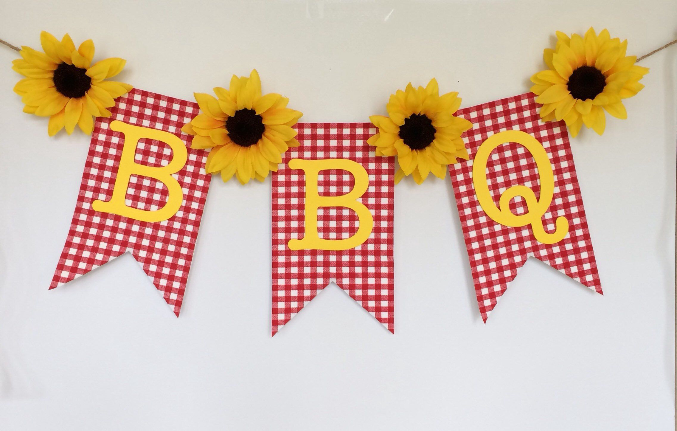 Excited to share this item from my #etsy shop: BBQ Sunflower Banner ...