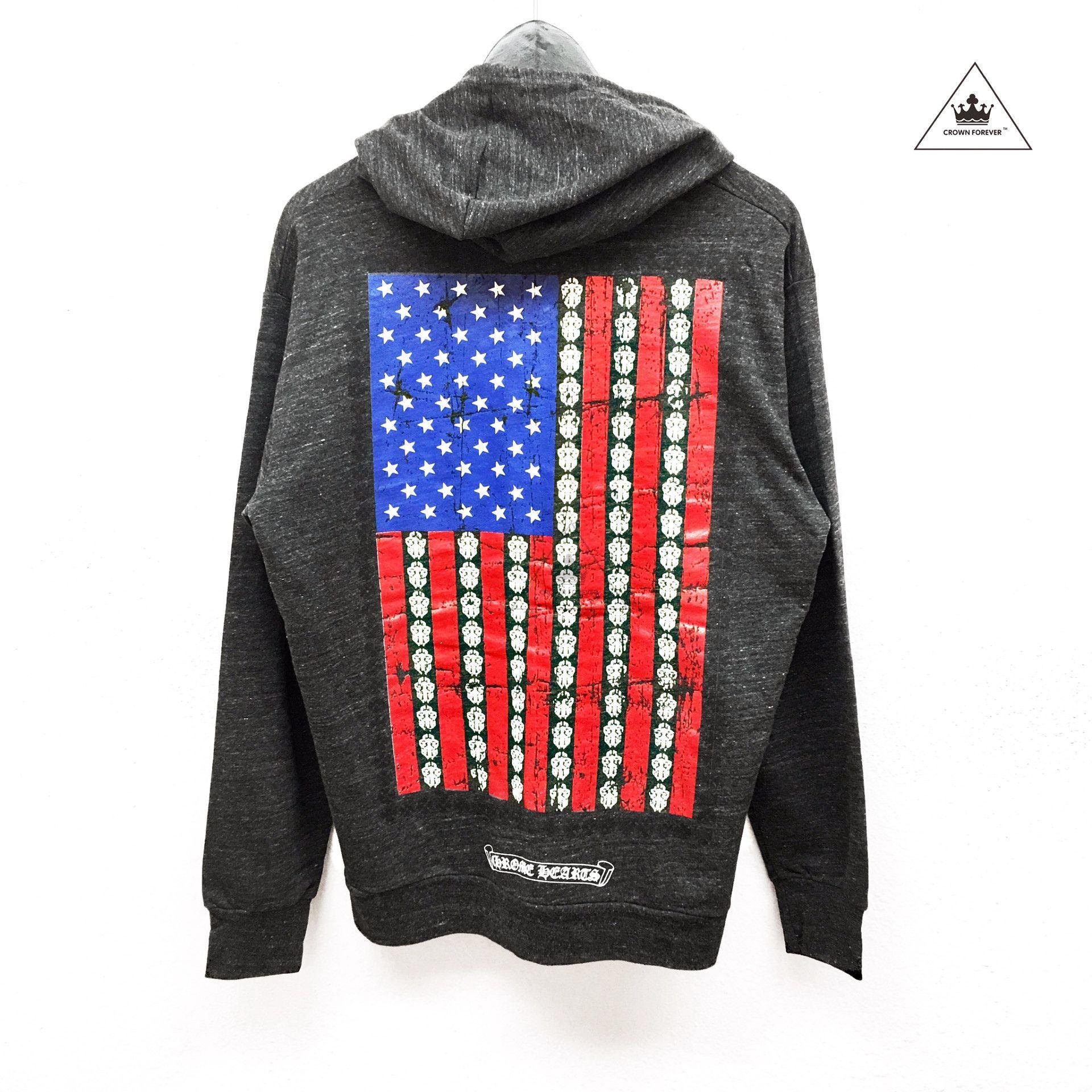 Ch American Flag Hoodie Hoodies American Flag Hoodie Heart Clothes