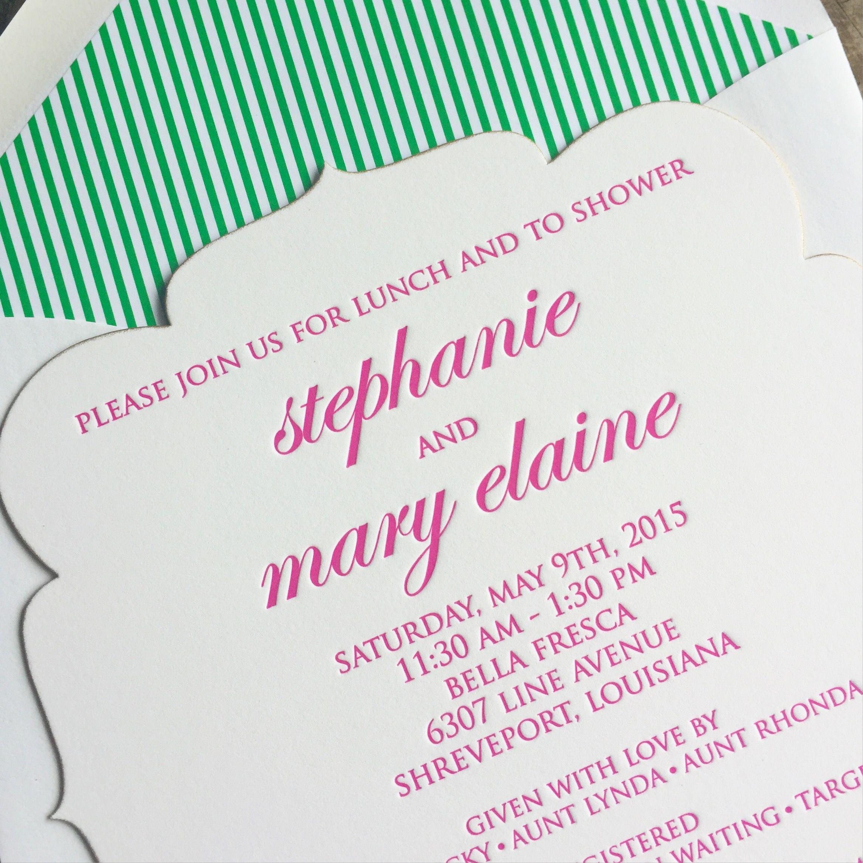 It\'s another pretty, preppy, Digital Bespoke baby shower invitation ...